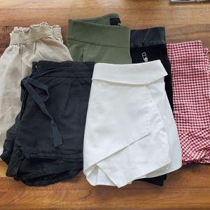 Aritzia & Zara bottoms bundle for summer XS/S